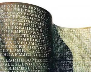 huruf-huruf di monumen kryptos