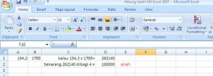 Bug Ms Excel 2007